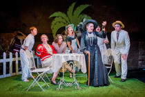 Photograph from The Dowager's Oyster - lighting design by Jess Bernberg