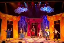 Photograph from Aladdin - lighting design by James McFetridge