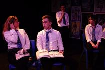 Photograph from The End of History - lighting design by Sally McCulloch