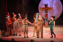 Photograph from Peter Pan - lighting design by Rachel Cleary