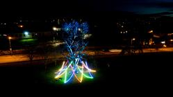 Photograph from The Litten Tree - lighting design by Daniella Beattie