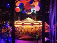 Photograph from The Fabulous Fund Fair - lighting design by Charlie Morgan Jones