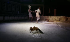 Photograph from The Hate Politik Project - lighting design by Chris Gatt