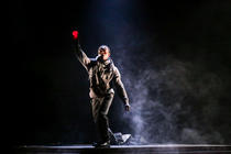 Photograph from Good Dog - lighting design by Zoe Spurr