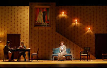 Photograph from Betty Blue Eyes - lighting design by Michael Grundner