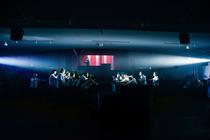 Photograph from Kommilitonen! - lighting design by Katy Morison