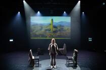 Photograph from Manifestos - lighting design by alexforey