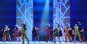 Photograph from Singin' in the Rain - lighting design by Michael Grundner