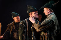 Photograph from Robin Hood - lighting design by Claire Childs