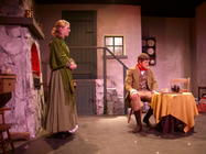 Photograph from Silas Marner - lighting design by Kevin Allen