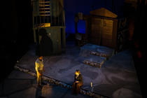 Photograph from The Suitors - lighting design by timothykelly
