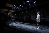 Photograph from The Cane - lighting design by Kiaran Kesby