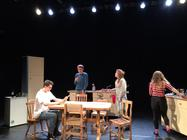 Photograph from The Kitchen Sink - lighting design by Jack Wills