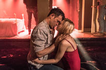 Photograph from Fool for Love - lighting design by Elliot Griggs