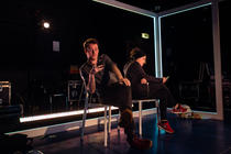 Photograph from Last Thursday - The Verbatim Project - lighting design by Will Burgher