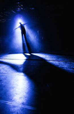 Photograph from The Merchant Of Venice - lighting design by Robbie Butler