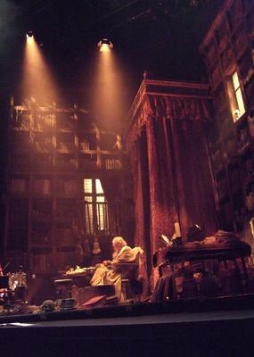 Photograph from Brief Lives - Mercury Theatre, Colchester - lighting design by Colin Wood